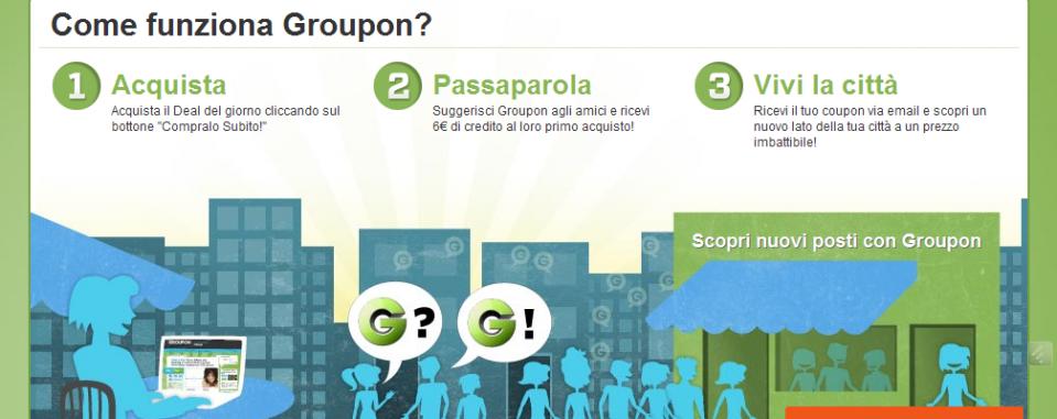 Con Groupon Offerte se acquisti e passiparola riceverai ancora più ...