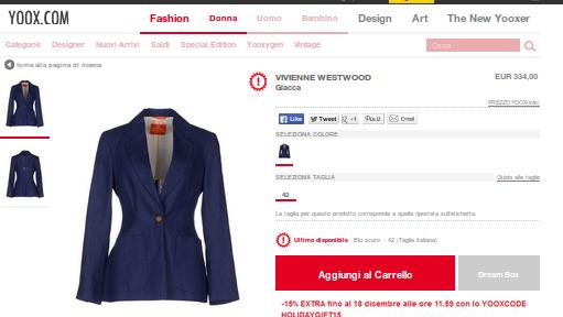 yoox abbigliamento Vivienne Westwood