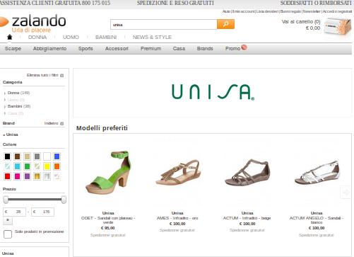 Offerte Unisa: la scarpa conveniente