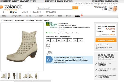 best sneakers 1d056 8d67c Offerte Zalando Scarpe: calzature per il presente -