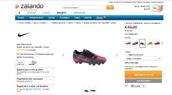 Offerte scarpe calcio