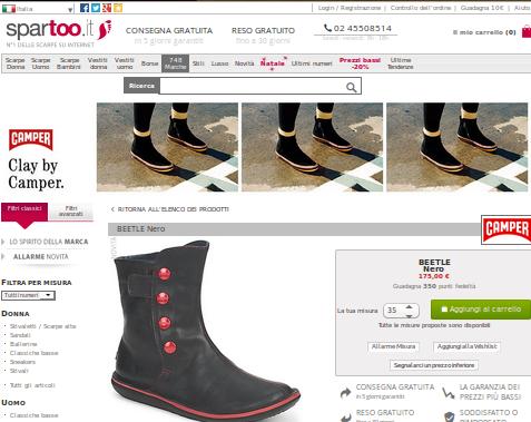 Camper scarpe: brand famosi ottimi prezzi
