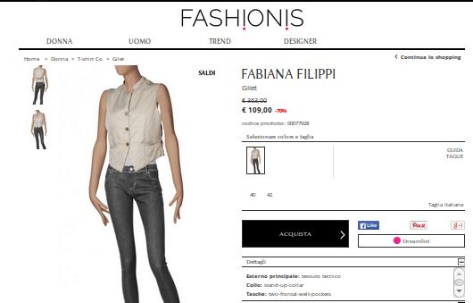 Fabiana filippi outlet: incontriamoci online per comperare